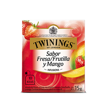 Té Fresa, Frutilla y Mango - Twinings - 15g/10 sobres