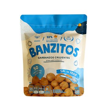 Snack de Garbanzo  - Banzitos - 140g - Sabor sal de mar