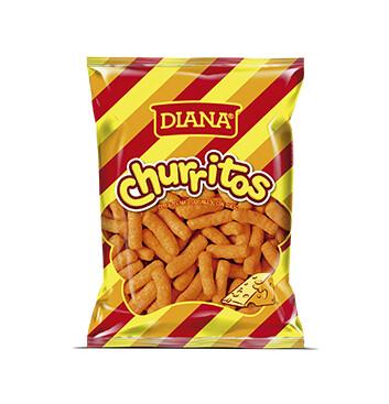 Churritos sabor a queso  - Boquitas Diana - 97g