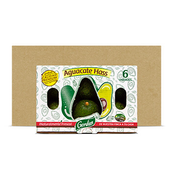 Caja Aguacate Hass - Gordian - 5x6 Unidades