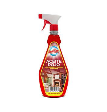 Aceite rojo para muebles, madera y molduras - Con atomizador - Don Clin - 720ml