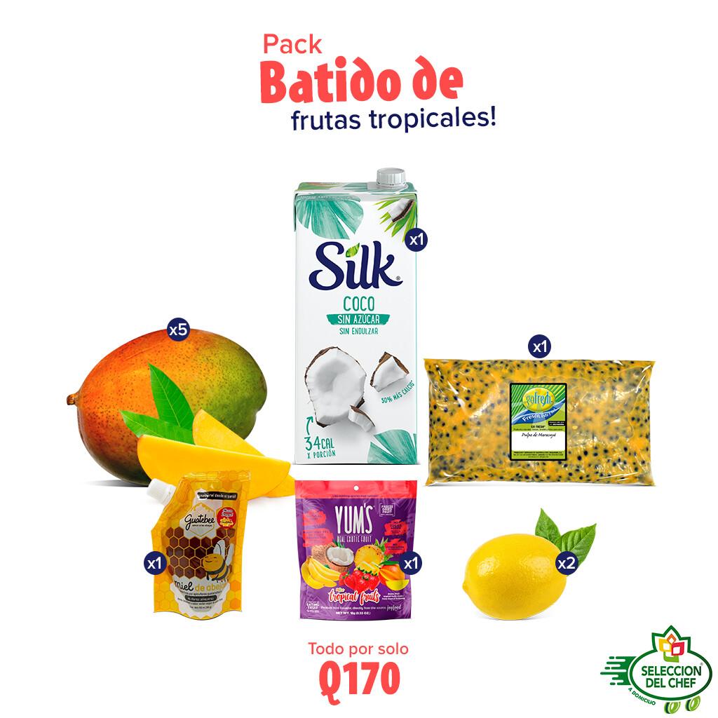 Pack batido de frutas tropicales