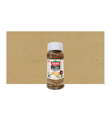 Caja Sazonador Mix Pollo - De la Huerta - Malher - 18 Unidades - 95g/frasco