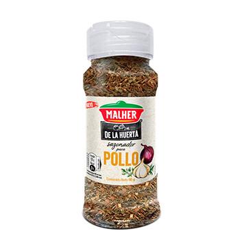 Sazonador Mix Pollo - De la Huerta - Malher - 95g/frasco
