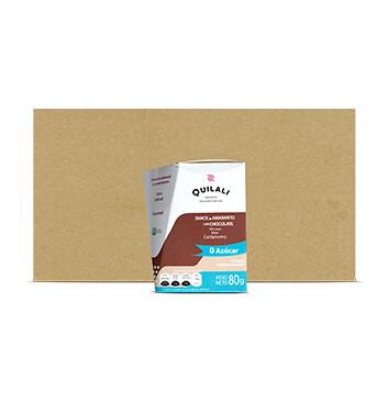 Caja Snack Amaranto  - Quilali - 12 Unidades - 80g/caja - Sabor Chocolate sin azúcar  con Cardamomo
