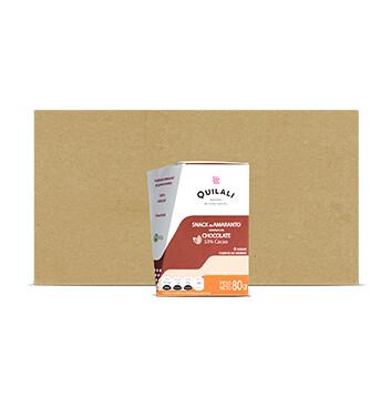 Caja Snack Amaranto Quilali - 12 Unidades - 80g/caja - Sabor Chocolate 53%
