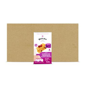 Caja Barras de Amaranto - Quilali  - 12 Unidades - 8x180g/caja - Sabor Arándano almendra