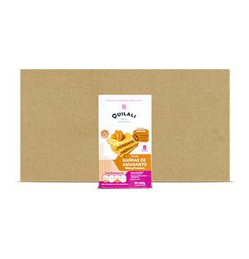 Caja Barras de Amaranto - Quilali - 12 Unidades - 8x180g/caja - Sabor miel pecanas