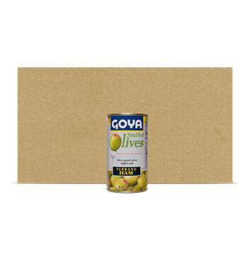 Caja de Aceitunas rellenas de Jamón Serrano - Goya - 12 Unidades - 148.84g
