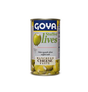 Aceitunas rellenas de Queso Manchego - Goya - 148.84g