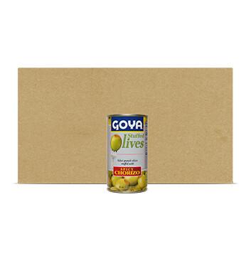 Caja de Aceitunas rellenas de Chorizo picante - Goya - 12 Unidades - 148.84g