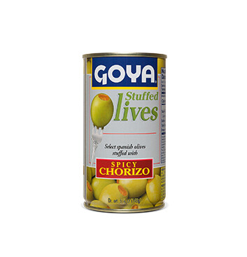 Aceitunas rellenas de Chorizo picante - Goya - 148.84g