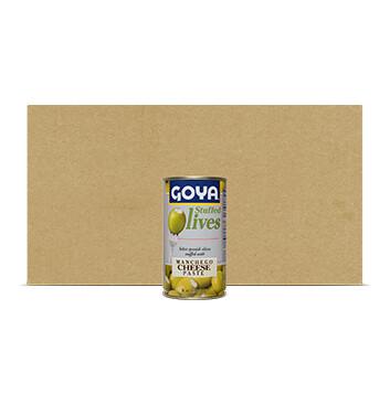 Caja de Aceitunas rellenas de Queso Manchego - Goya - 12 Unidades - 148.84g