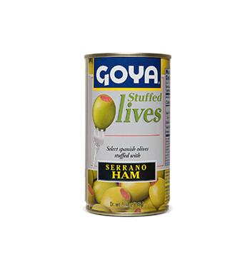 Aceitunas rellenas de Jamón Serrano - Goya - 148.84g