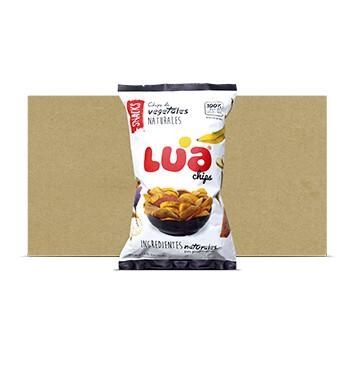 Caja Lua Chips Vegetales Naturales - 10 Unidades - 192g