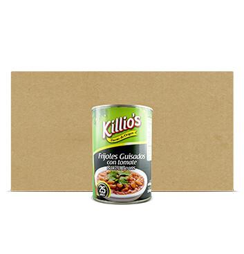 Caja Frijoles Guisados con Tomate - Killios - 24x400g