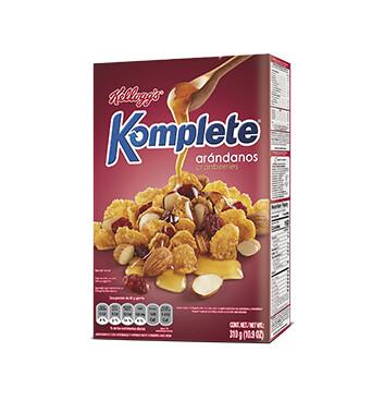 Cereal Kelloggs Arándanos - Komplete - 310g