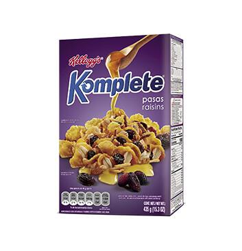Cereal Kelloggs Pasas - Komplete - 435g