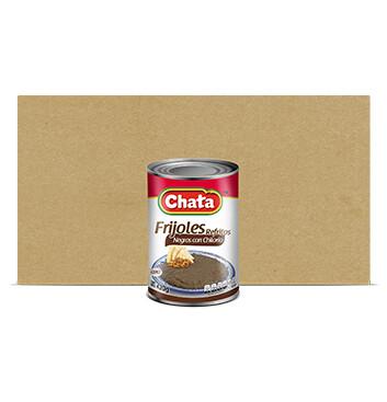 Caja Frijoles Negros con Chilorio - Chata® - 12 Unidades - 420g