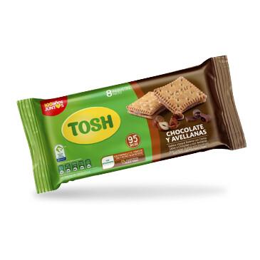 Galleta Tosh Chocolate y Avellanas - 8x164g