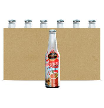 Caja Dorada Michelada - 24 Unidades - 350ml/botella