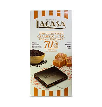 Chocolate Caramelo & Sal de Himalaya - La Casa - 100g