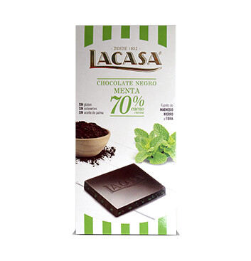 Chocolate 70% Cacao Menta - La Casa - 100g