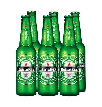 Cerveza Heineken - 6x350ml/botella