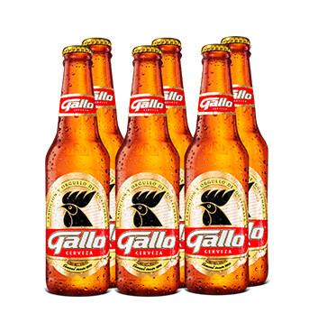 Cerveza Gallo - 6x350ml/botella