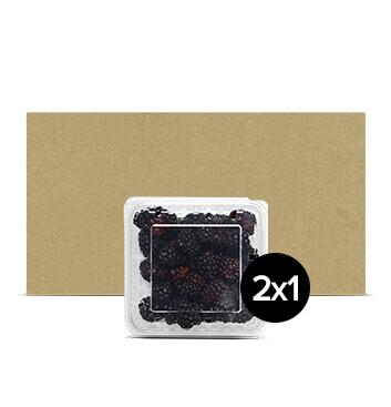 Caja Clamshell Mora - 12 Unidades - 170g  - 2x1