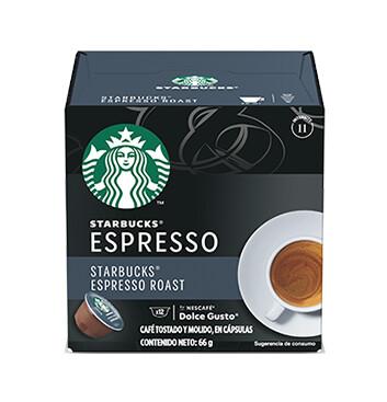 STARBUCKS® by NESCAFÉ® Dolce Gusto Espresso Tueste Oscuro 12 Capsulas