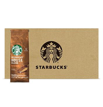 Caja STARBUCKS® House Blend Tueste Medio Café Tostado y Molido 12 x 250g