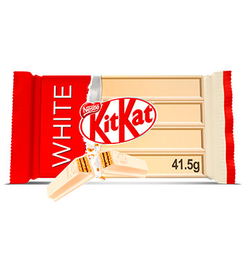 NESTLE KIT KAT WHITE 4 Finger Barra de Chocolate Blanco de 41.5g