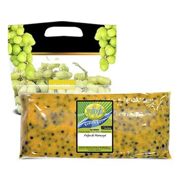 Bolsa Pulpa de Maracuyá - Gofresh - 16oz + Uva Verde 1Lb
