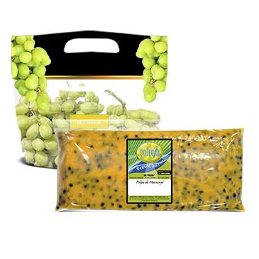 Bolsa Pulpa de Maracuyá - Gofresh - 8oz + 1 libra de uva verde
