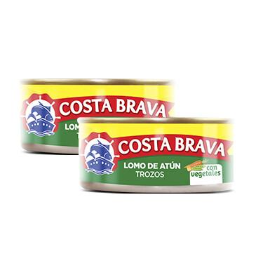 Lata de Atún Costa Brava con vegetales 2x6oz