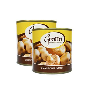 Lata chapiñones Grotto entero - 2x184g