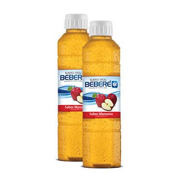 Suero oral - Beberé - 2x500ml - Sabor manzana