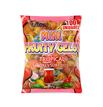 Mini Gelatinas Mini Fruity Gels® Bolsa Tropical - 1500g