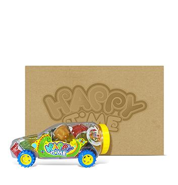 Caja de Mega Gelatinas Mini Fruity Gels® Carro Tradicional - 6x1225g