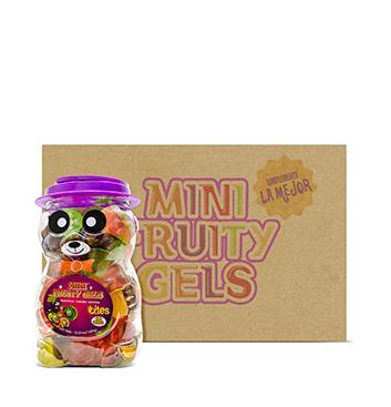 Caja de Mini Gelatinas Mini Fruity Gels® Tarro Oso Tradicional - 6x1500g