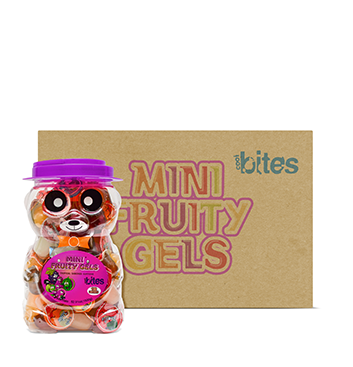 Caja de Mini Gelatinas Mini Fruity Gels® Tarro Oso Tropical - 6x1500g