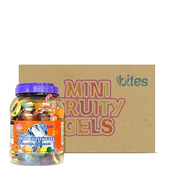 Caja de Mini Gelatinas Mini Fruity Gels® Tarro Redondo Soda - 6x1500g