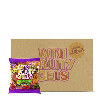 Caja de Mini Gelatinas Mini Fruity Gels® Bolsa Tradicional - 60x150g