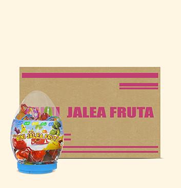 Caja de Mini Gelatinas Mini Fruity Gels® Tarro Huevo Tradicional - 6x1500g