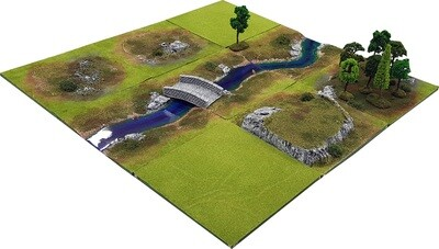 3'x3' STREAM VALE Battlefield Set