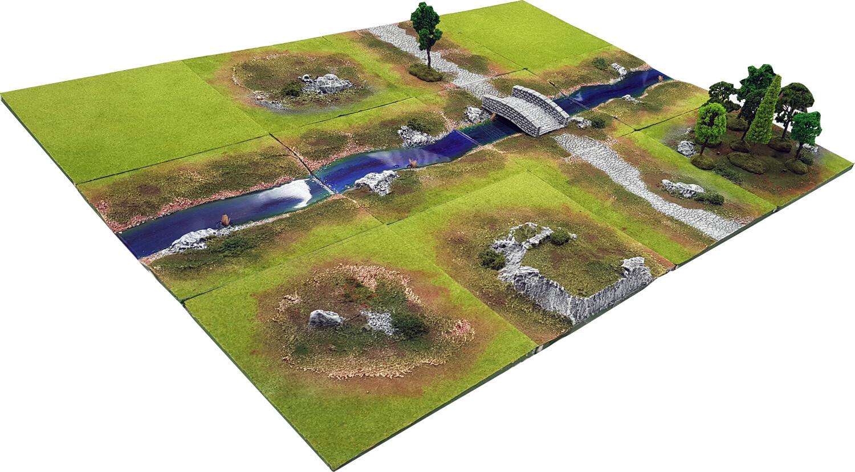 4'x3' RIVER GLEN Battlefield Set
