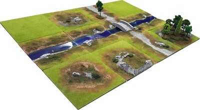 4'x3' RIVER GLEN Battlefield Set