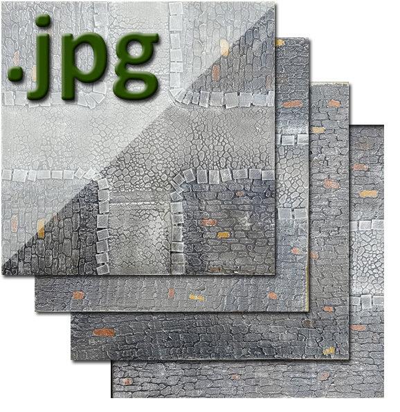"""Medieval"" Theme Urban Tiles - Digital Images"