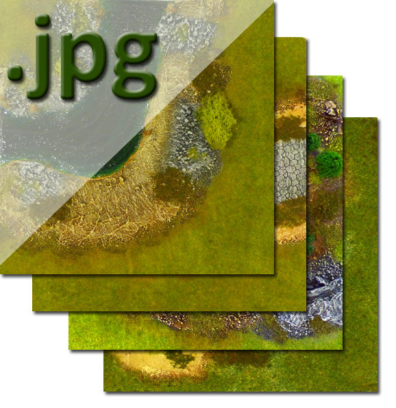 """""""Green Spring"""" Theme Outdoors Tiles - Digital Images"""